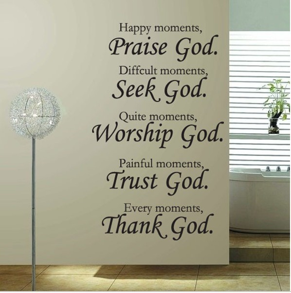 Worship Quotes Stunning English Quotes Praise God Worship Godwall Art Home Decalsvinyl
