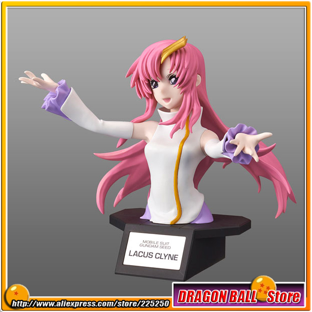 Anime Mobile Suit Gundam SEED Original BANDAI Tamashii Nations Figure-rise Bust Action Figure - Lacus Clyne Plastic Model wholesale dm32056 lacus clyne cute pink long anime cosplay wig with 2 ponytail discount35