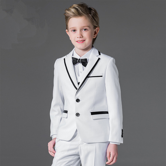 b84fc08be Good quality boy formal ceremony party ball dinner blank white coat ...