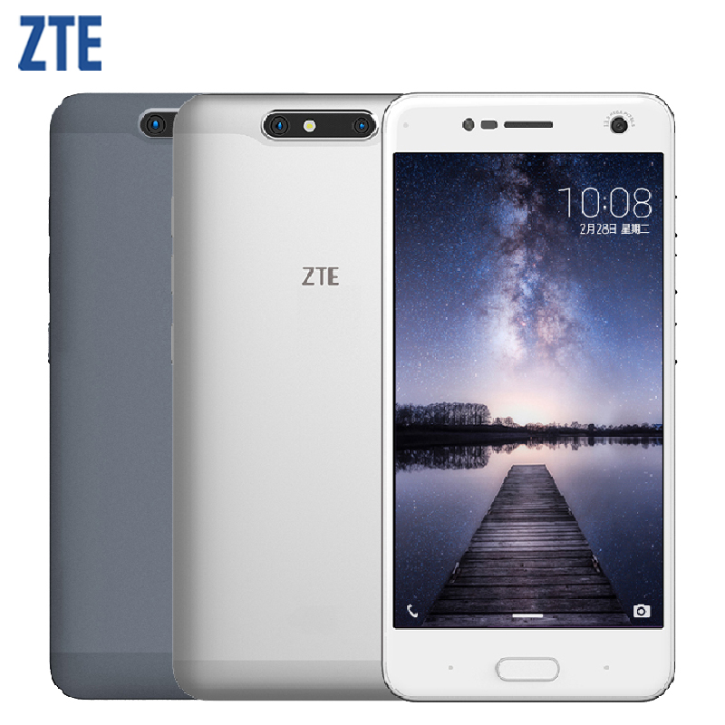 Original ZTE Blade V8 Mobile Phone RAM 4GB ROM 64GB Octa Core 5.2 inch Android 7.0 Dual Camera 13MP+2MP Fingerprint Smartphone