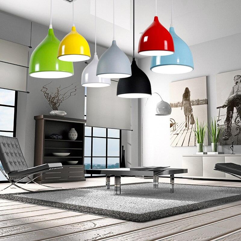 Modern Pendant Ceiling Lamps E27 LED Pendant Light Kitchen Accessory Living Room Restaurant Hanging Lamp Suspension Luminaire