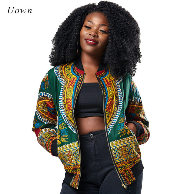 b07d32f50b78e9 Traditional African Print Ankara Jacket Women Autumn Winter African Fashion  Attire Pattern Bomber Jacket Coat Dashiki
