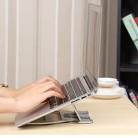 Laptop Stand Cooling Base Foldable Liftable Aluminum Alloy Laptop Bracket Tablet Support Cooler Stands Holder