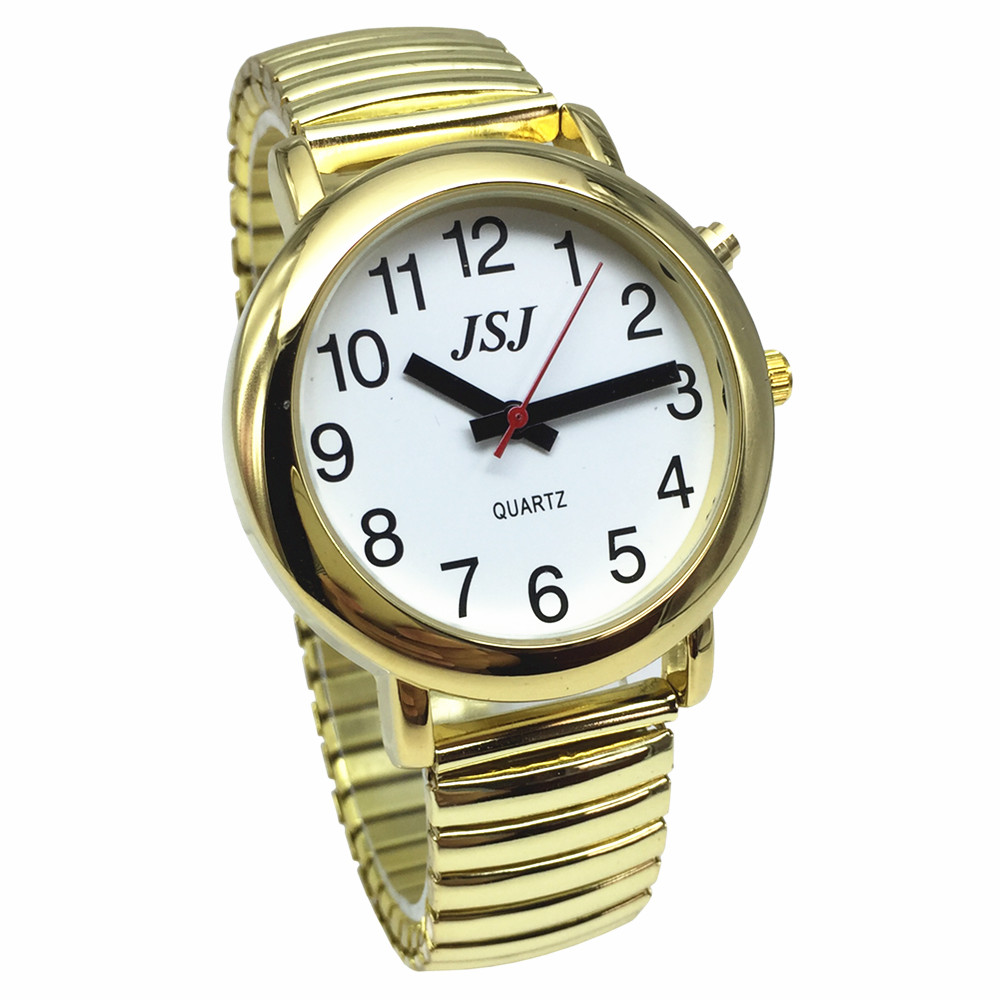 English Talking Watch For Blind People Or The Elderly And Visually Impaired With Alarm Of Quartz, Talking Date And Time