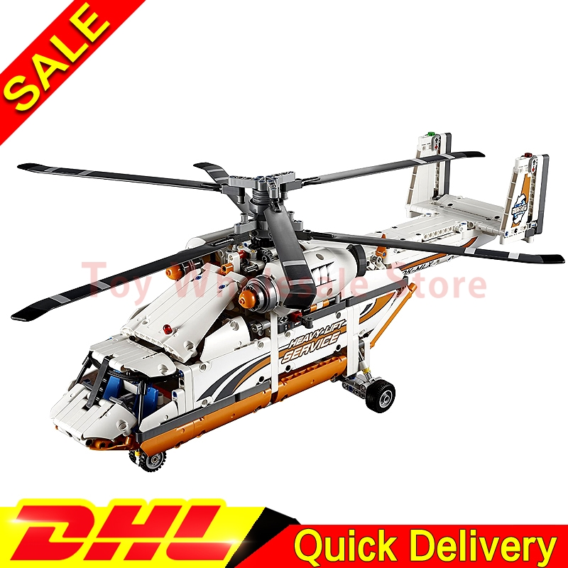 LEPIN 20002 technic series 1060pcs Double rotor transport helicopter Model Building blocks Bricks lepins Toys Clone 42052 lepin 02004 356pcs city series volcanic expedition transport helicopter model building blocks bricks toys for children gift