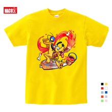 Childrens Interest Mickey Printed T-shirt Boys/Girls Mouse Short-sleeved Summer Leisure Animated Shirt