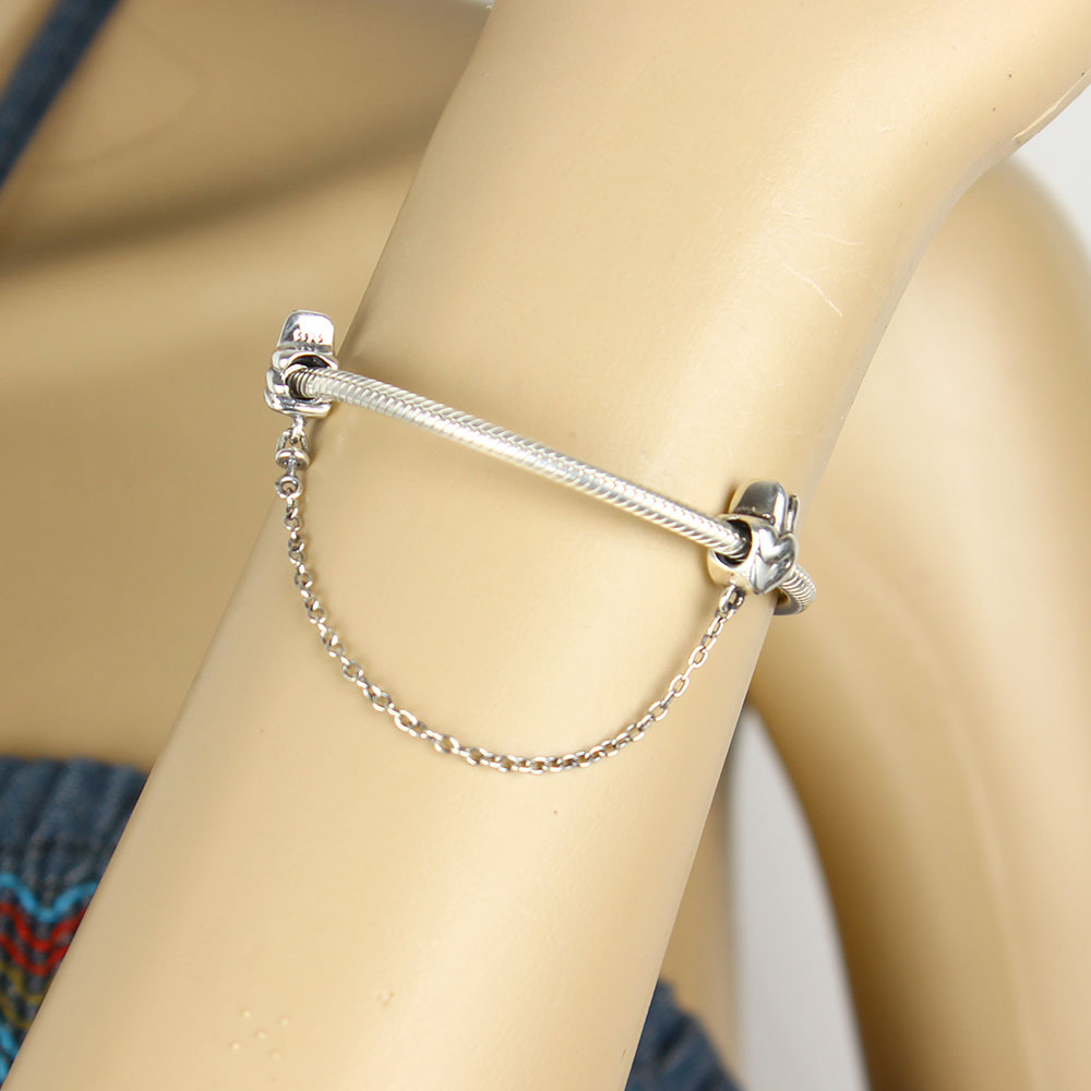 08697e45d ... netherlands 2018 summer collection gesture safety chain charm fits  original pandora charms bracelet 925 sterling silver