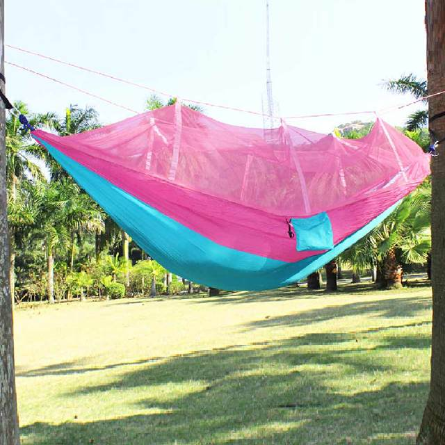 Furniture Portable Anti-mosquito bites Hammock Parachute Fabric Mosquito Net for Indoor Outdoor Camping Using Hanging chair