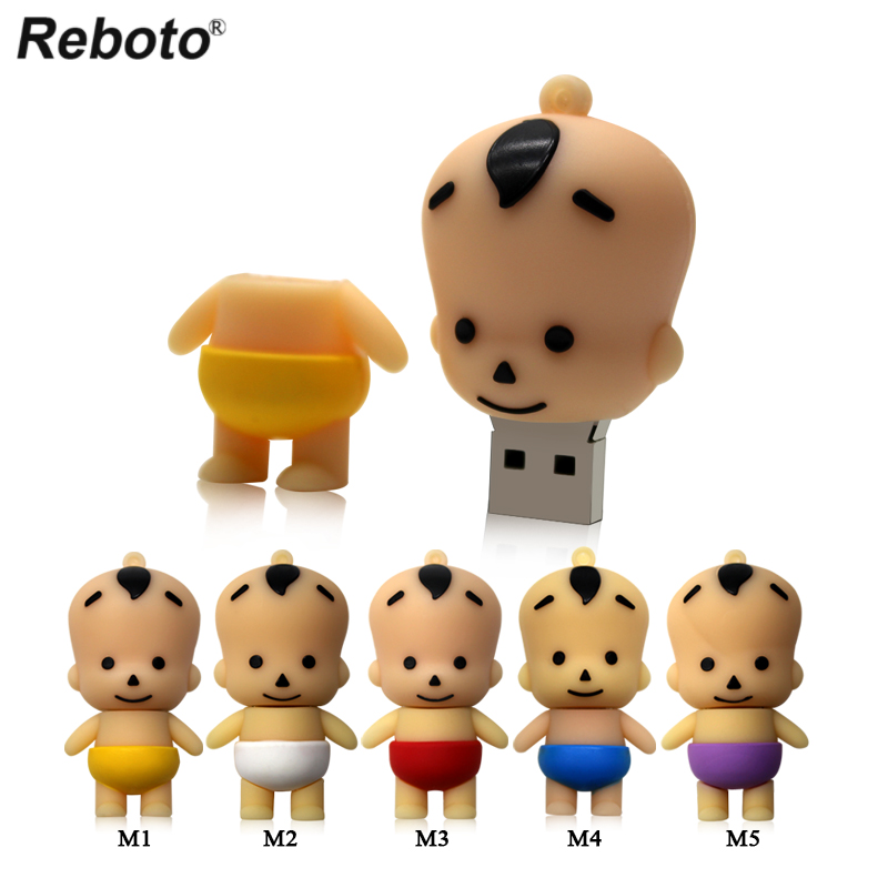 5 Colors USB Flash Drive 4GB 8GB 16GB 32GB 64GB Lovely Baby Boy Cartoon Kid Shape Thumb Drive Pen Drive Flash Memory Stick