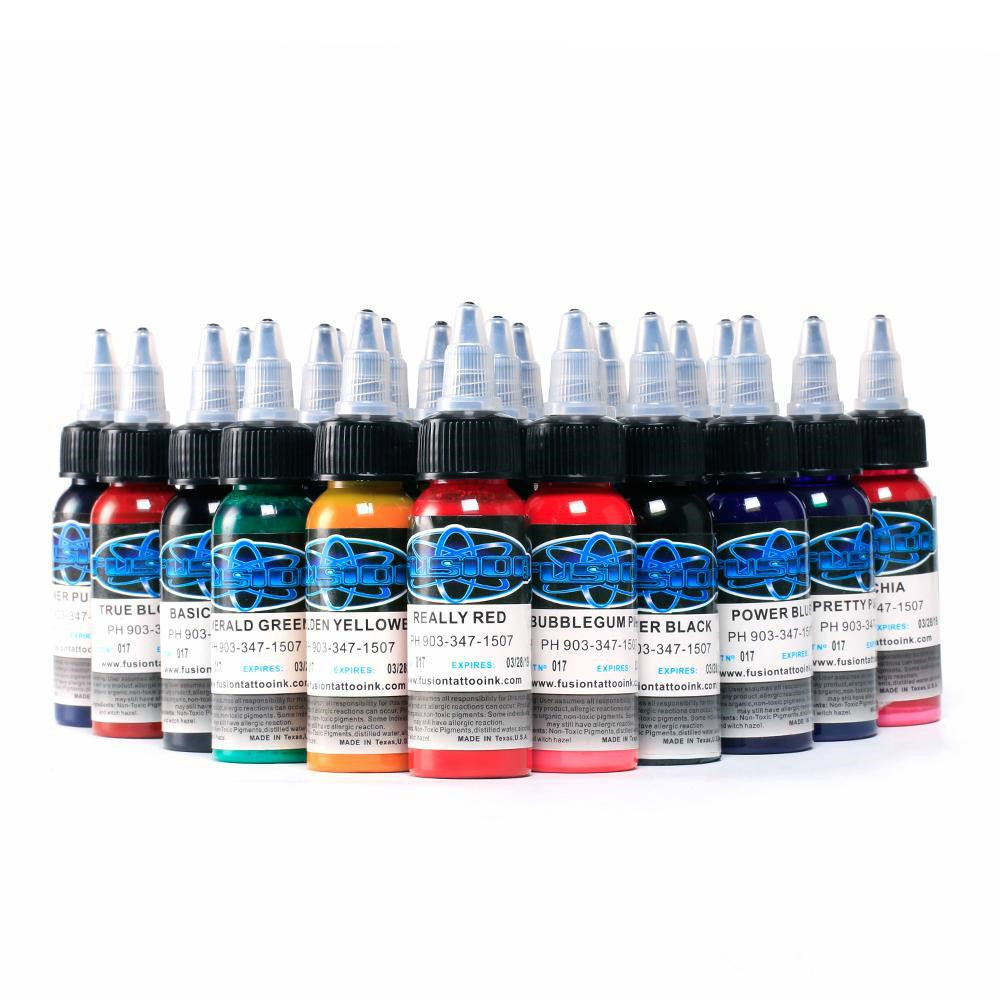 High quality 16Pcs Fusion Tattoo Ink 16 Colors Set 1 oz 30ml/Bottle Tattoo inks Pigment Kit for 3D makeup beauty skin body artHigh quality 16Pcs Fusion Tattoo Ink 16 Colors Set 1 oz 30ml/Bottle Tattoo inks Pigment Kit for 3D makeup beauty skin body art