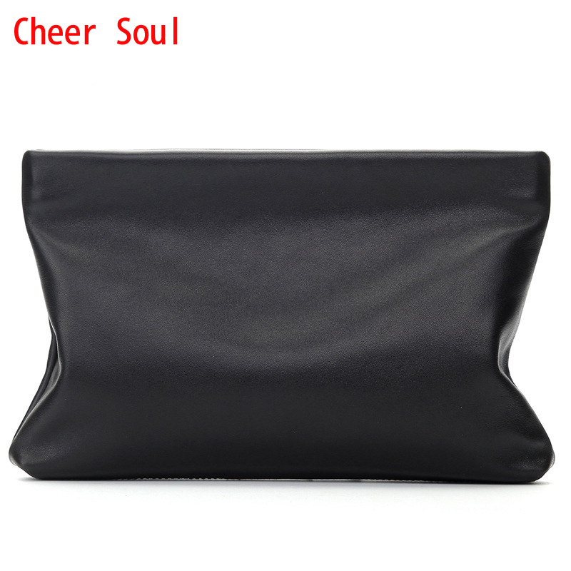 CHEER SOUL Genuine Leather Men day Clutches bag Brand High Quality Handy Bag New Style Business Fashion MenS Big Wllet Purse