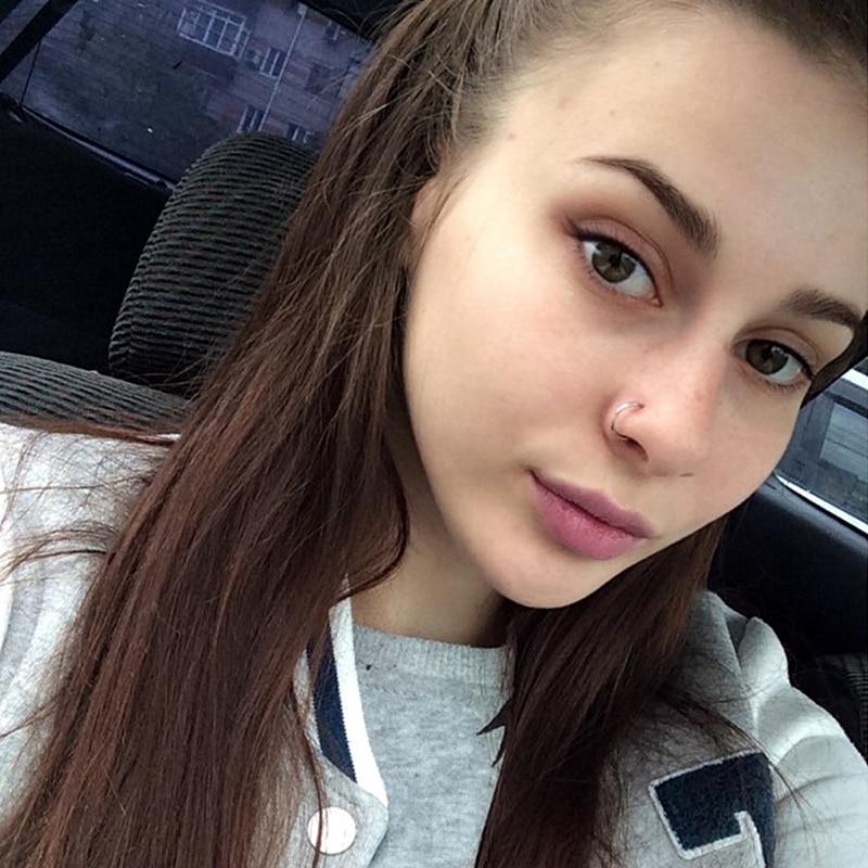 Fashion Cute Fake Piercing Medical Titanium Nose Ring Women