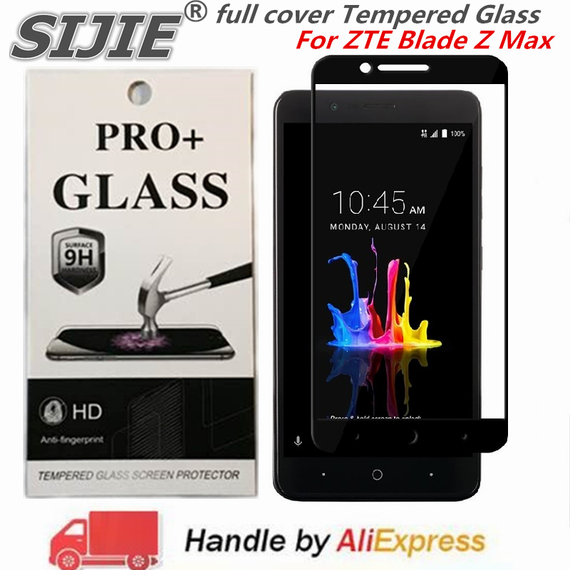 US $5 99 |full cover Tempered Glass For ZTE Blade Z Max Z982 MetroPCS ZMax  Screen protective smartphone on toughened frame all edges -in Phone Screen