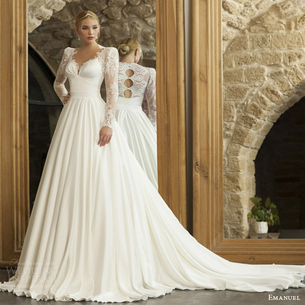 Popular modern style wedding buy cheap modern style for Modern long sleeve wedding dresses