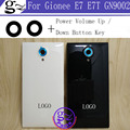 For Gionee E7 E7T GN9002 Battery Cover+Camera Glass With Power Volume Up / Down Button High Quality E7 E7T GN9002 Back Cover