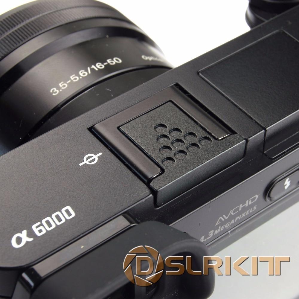 Black Metal Hot Shoe Cover for Sony A6500 A6300 A6000 A3000 A7RM2 A77M2 NEX-6 Camera universal cartoon spirit level hot shoe cover for camera black tansparent