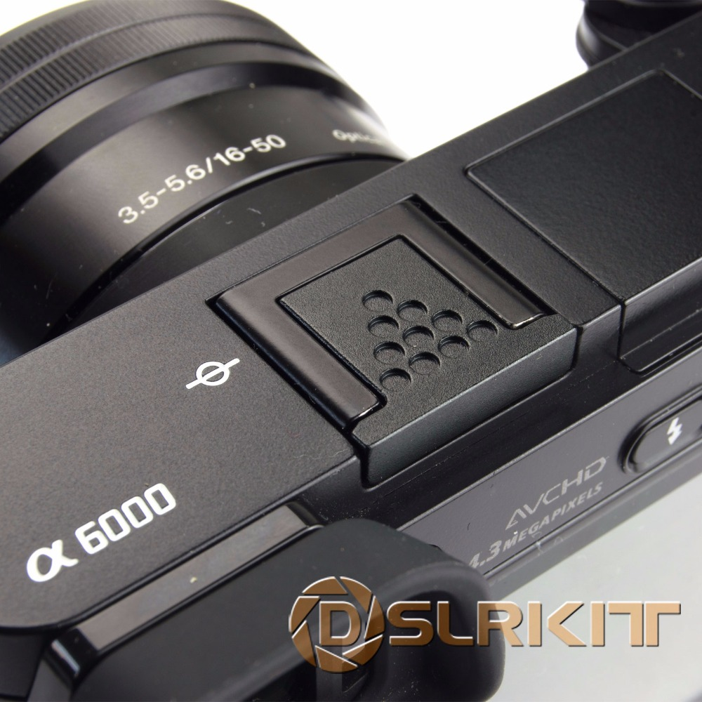 Black Metal Hot Shoe Cover for Sony A6500 A6300 A6000 A3000 A7RM2 A77M2 NEX 6 Camera