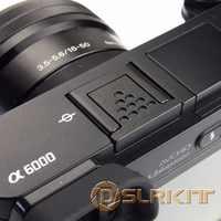 Schwarz Metall Heißer Schuh Abdeckung für Sony A6500 A6300 A6000 A3000 A7RM2 A77M2 NEX-6 Kamera