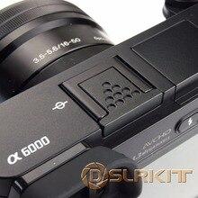 소니 a6500 a6300 a6000 a3000 a7rm2 a77m2 NEX 6 카메라에 대 한 검은 금속 핫 구두 커버