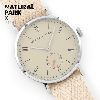 NATURAL PARK Brand Luxury Watches Men Business Casual Clock Handmade nylon Strap Quartz Watch Mens Fashion Creative Wristwatch