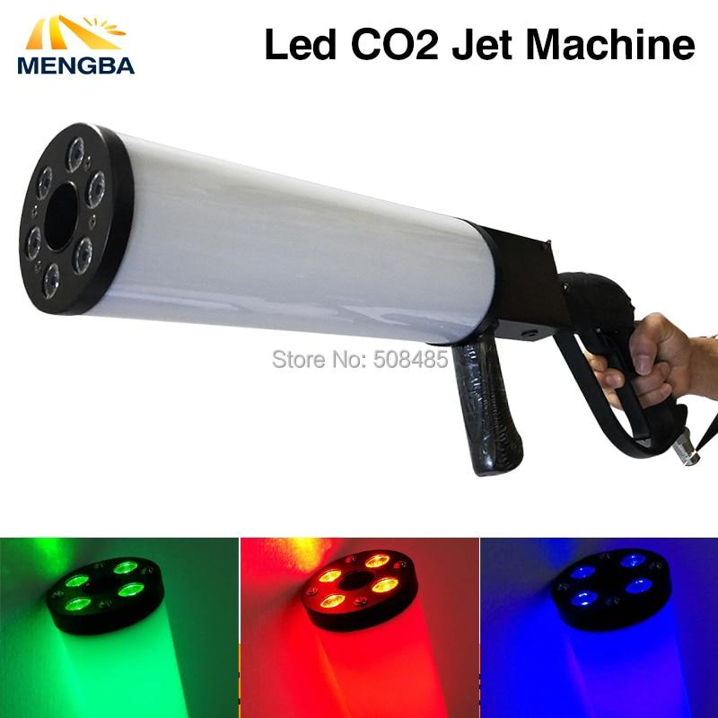 LED Co2 Gun DJ Lights LED CO2 Jet Machine Dj Gun Disco Lighting Stage Equipment 6 pcs lot new portable led co2 jet machine co2 gun dj cannon rgb 3 in1 color with battery led smoking gun for disco