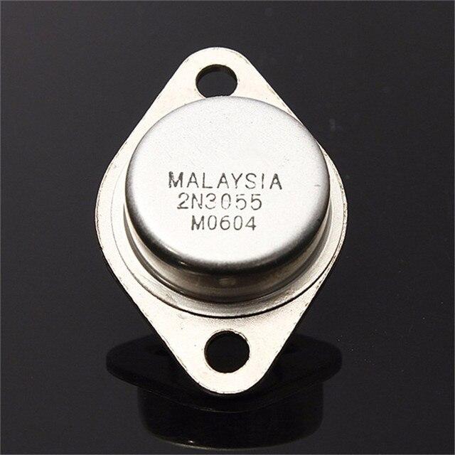 5 uds NPN 15A/60V AF amplificador de potencia de Audio Transistor 2N3055 a 3 Metal caso AK componentes electrónicos transistores