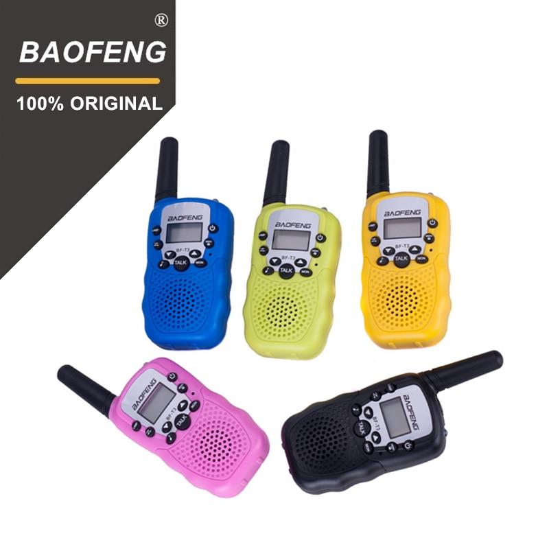 2 stücke Großhandel Kinder Mini Kinder UHF Walkie Talkie BF-T3 Baofeng FRS Zwei Weg Radio Comunicador T3 Handliche Talkie Hf transceiver