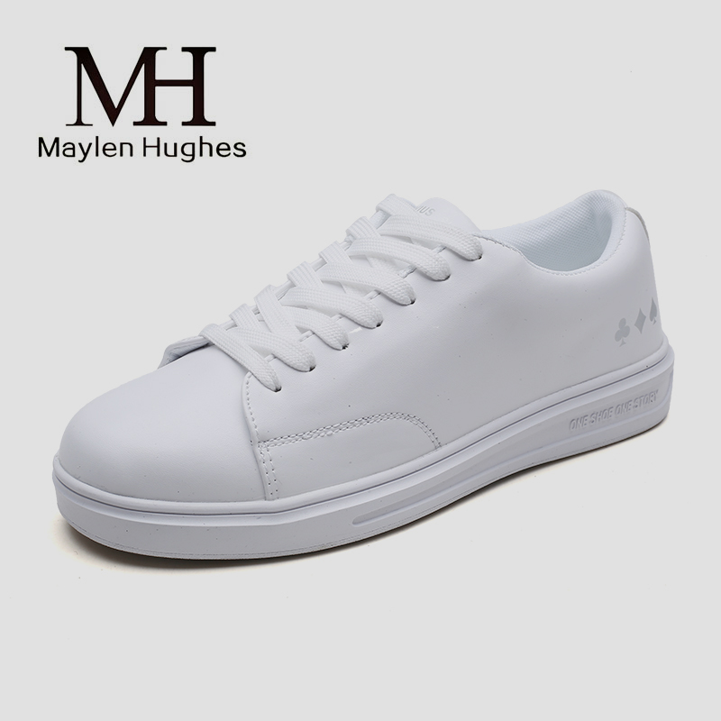White Shoes male Flat Leather Walking Shoes black All Match man Flat Student Sports Low Shoes Tidal Flow Travel Shoes цены