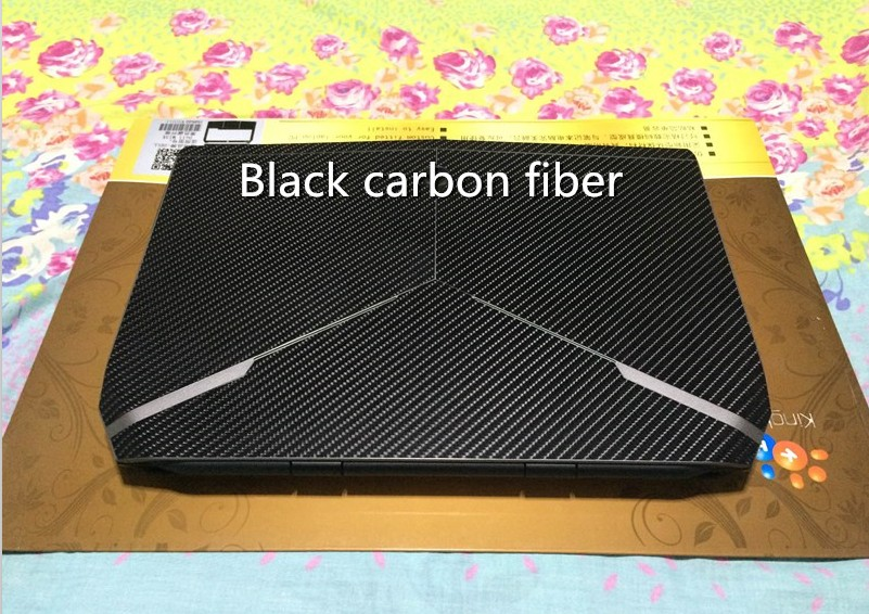 Ноутбук углеродного волокна виниловая кожа наклейка крышка для ASUS G73 G73JW G73JH G73SW 17,3-дюймов - Цвет: Black Carbon fiber