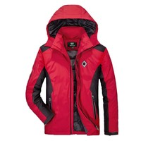 Autumn Winter Thick Warm Hooded Jacket Men Smart Casual Windbreaker Waterproof Coat Parka Male Clothing OUTWEAR Jacket