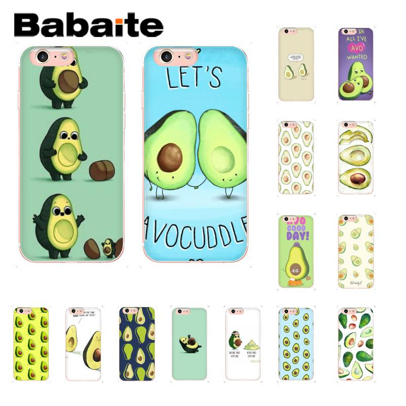 Babaite avocado TPU Soft Phone Accessories Case Cover for iPhone 5 5Sx 6 7 7plus 8 8Plus X XS MAX XR Fundas Capa