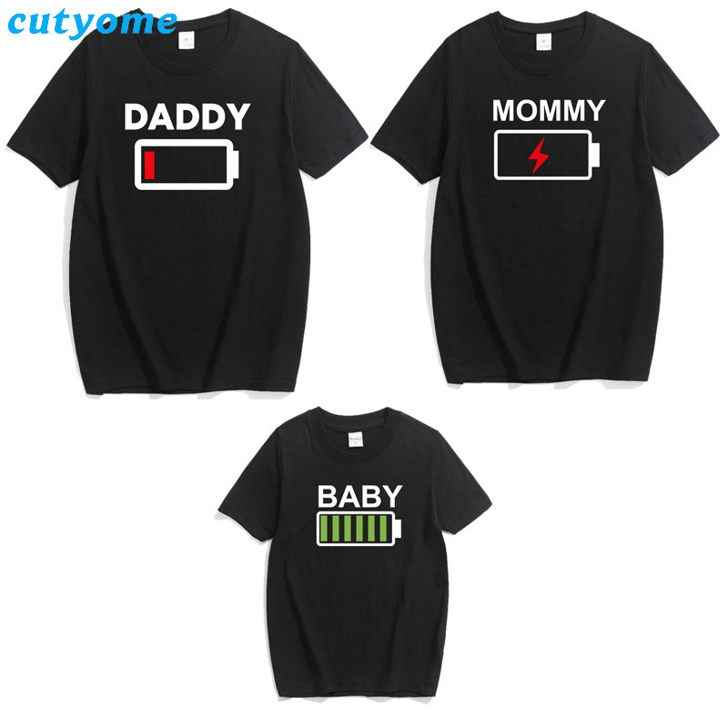 Matching Father Son Mother Daughter T-shirts Family Outfits Mommy Baby Kids Father And Me Tshirts Black Top Tees Clothes For Mom (10)