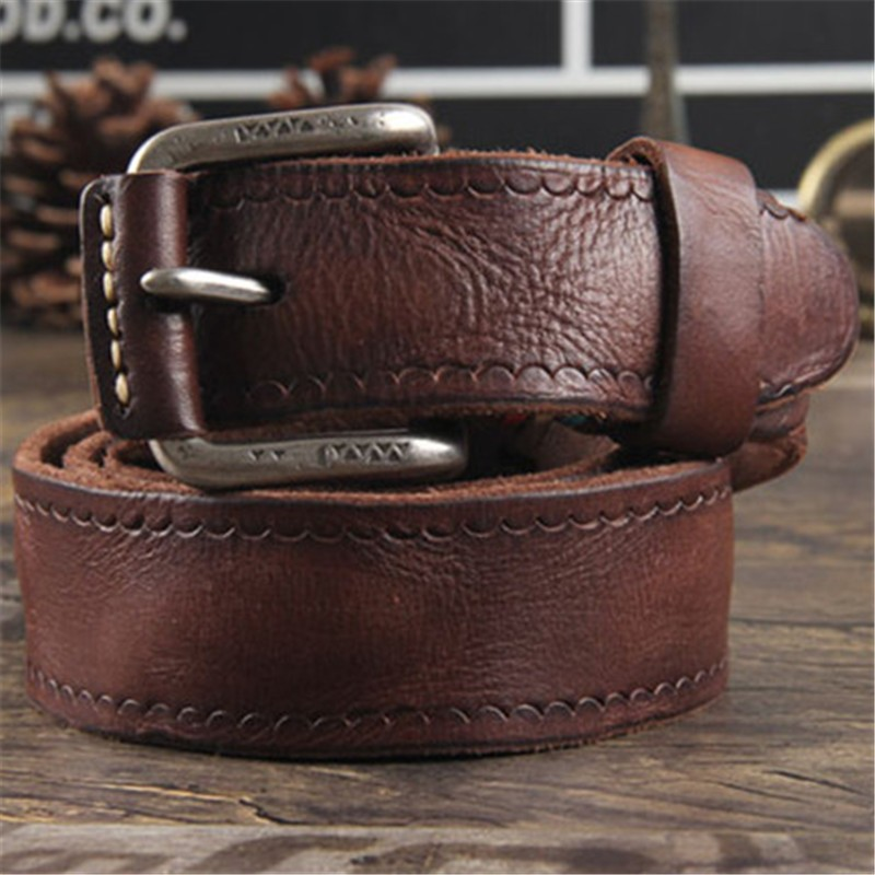 Cowhide Genuine Leather Belts men brand Strap male pin buckle fancy vintage  jeans strap male cintos masculinos ceinture homme 4