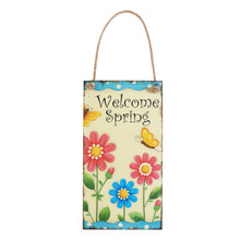 Welcome Spring Wedding Decoration Sign Top Table Present Decoration Free Shipping For Easter Day Decoration(China)