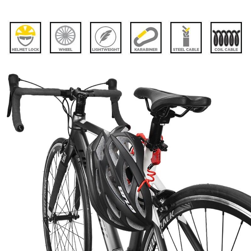 Ramble Mini candado para Bicicleta 1200 mm Mochila Plegable Ciclismo Candado de Cable para Bicicleta con combinaci/ón de 3 d/ígitos para Bicicleta