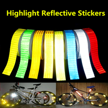 New 5cmx50m Safety Mark Reflective tape stickers car-styling arrow square red white yellow green blue Self Adhesive Warning Tape