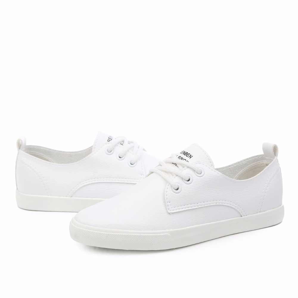 2019 Yeni Deri Kadın Ayakkabı Rahat deri ayakkabı Kadınlar Için düz ayakkabı Bayanlar Bağcık Loafer'lar Zapatos Mujer