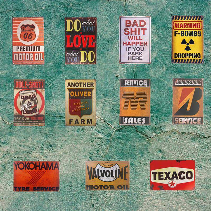 Texaco Motor Öl Route 66 Poster Zinn Plaque Shelby Mopar Golf Metall Zinn Zeichen Garage BP Tankstelle Wand Dekor