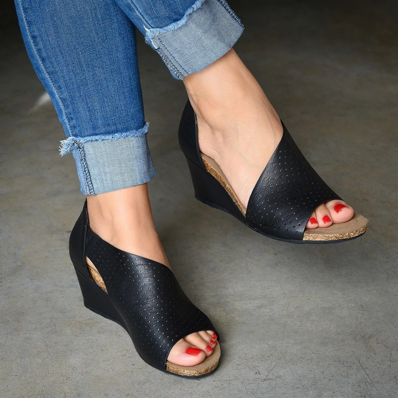 Women Summer Fashion Casual Shoes Side Open Cover Heel Retro Peep Toe Plateform Sandals Sandalias Mujer 2019