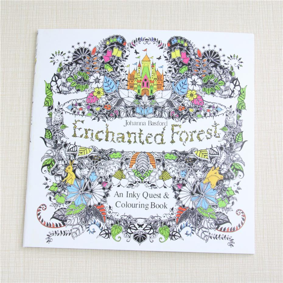 24 Pages Enchanted Forest Secret Garden Series Antistress Adult Coloring Books For Adults Iibros Livre Cloriage Kids Art Book