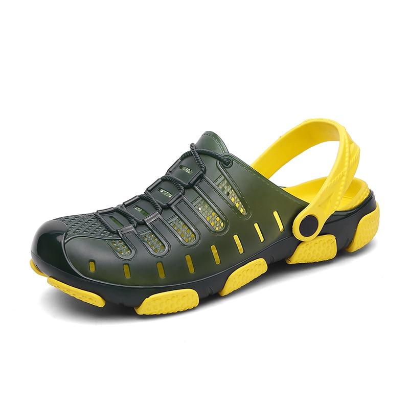 Men Sandals 2019 Crok Adulto Clogs Crocse Crocks Shoes EVA Sandalias Summer Beach Shoes Slippers Cholas Hombre Bayaband Croc