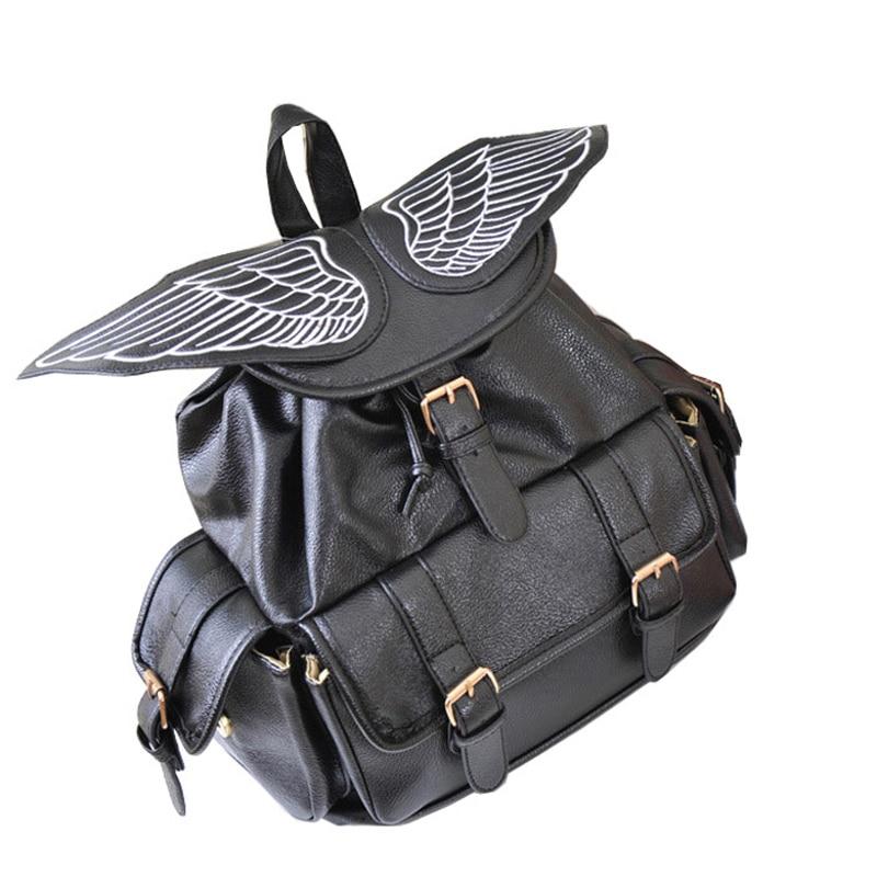 font b Women b font Leather font b Backpack b font School Bags PU Leather