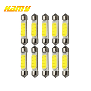 10x Car C10W C5W LED Bulb COB Festoon 31mm 36mm 39mm 12V Auto Interior Dome Reading Light License Plate Trunk Luggage Lamp White(China)
