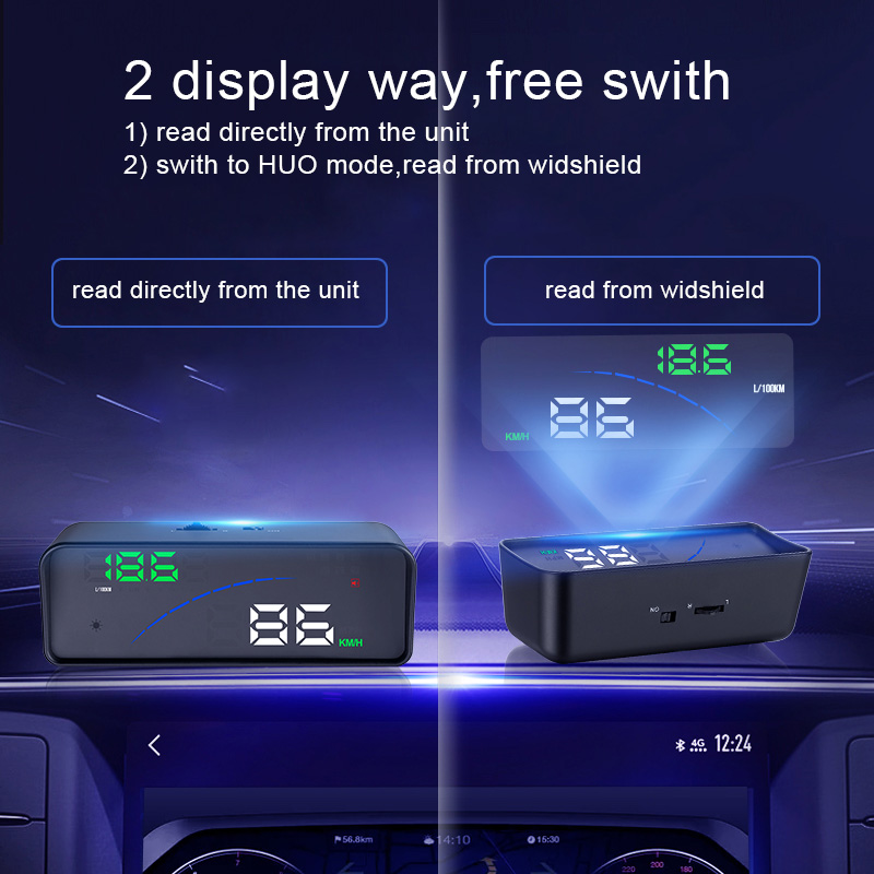US $27 0 |Newest P9 Car HUD Head Up Display OBD Smart Digital Meter For  Most OBD2 EUOBD Cars P9 HD Projector Display The Car Dashboard-in Head-up