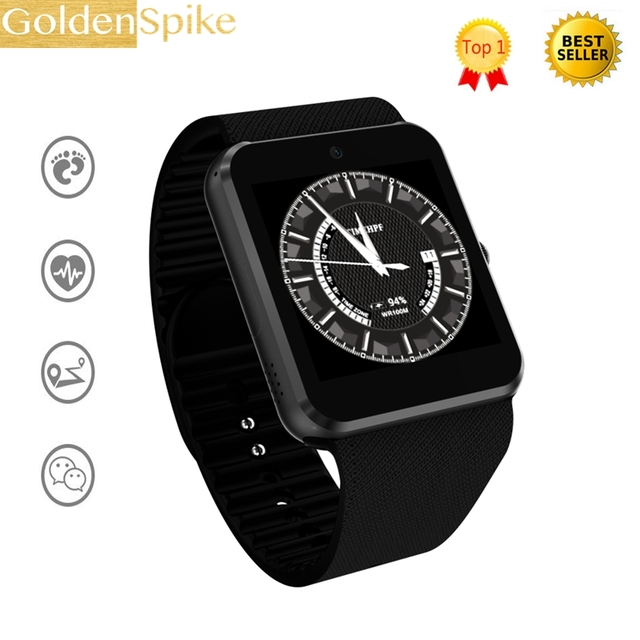 New 3G WiFi QW08 Android OS Upgrade GT08 GT88 4GB Smart watch phone Support  3G SIM Card Bluetooth 4 0 Play Store Download APP-in Smart Watches from