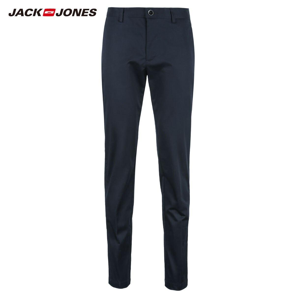 Image 5 - JackJones Mens Cotton Pants Elastic Fabric Comfort Breathable  Business Smart Casual Pants Slim Fit Trousers Menswear218314502Casual  Pants