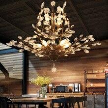 Retro Crystal Chandelier lamp crystal pendant chandelier light art deco Loft lighting fixture lusters en hanglampen