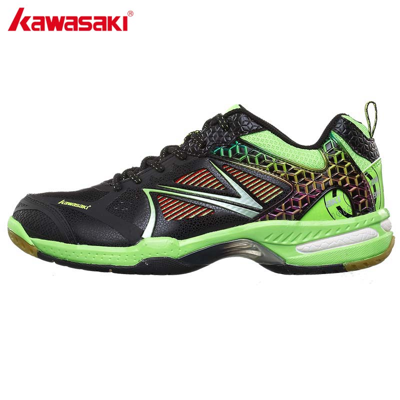 KAWASAKI Brand Mens Training Sneaker Badminton Court Shoes Professional Sports Shoe Wear-resistant Anti Torsion K-616 615