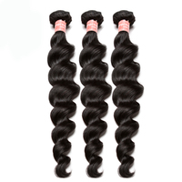 Brazilian Loose Wave Hair Extension 100% Remy Human Hair Weave Bundles Free Shipping Natural Color 3 Piece CARA Hair Products
