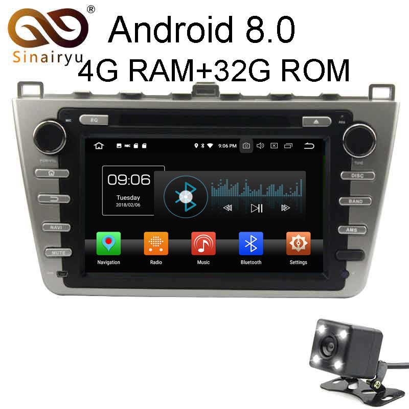 Android 8 0 8 Core 4G RAM Car DVD GPS For Mazda 6 Ruiyi Ultra 2008